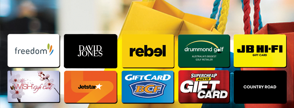 Save on a variety of giftcards from your favourite stores!